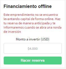 Hacer reserva offline