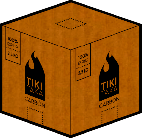 Una caja de 2,5 Kg 100% espino. Precio: $3.500