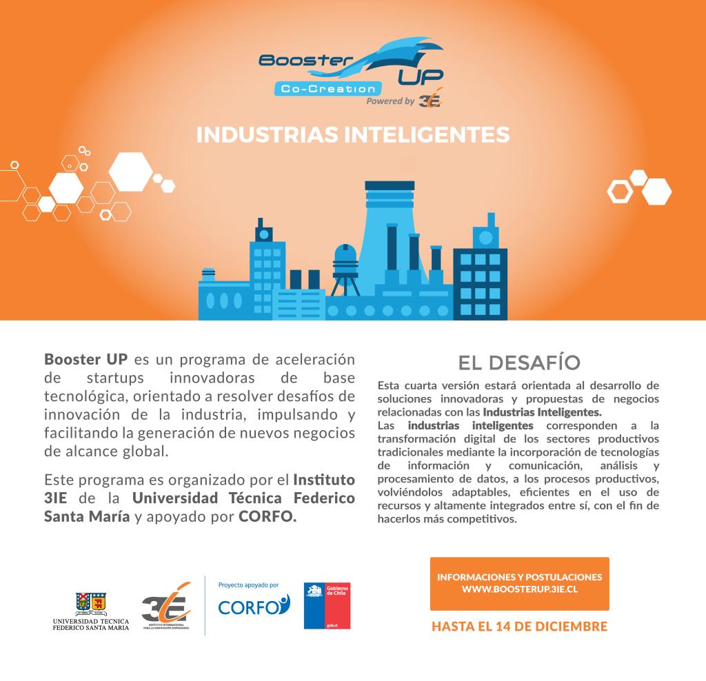 Invitación Booster Up Industrias Inteligentes
